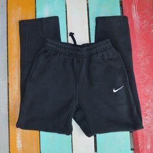 Nike drawstring jogging track pants with pockets